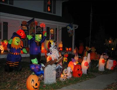 Halloween lawn