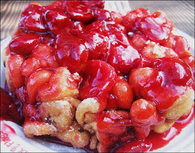 Strawberry funnel cake