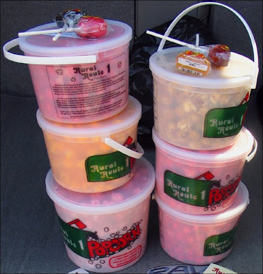 Buckets of RR1 popcorn