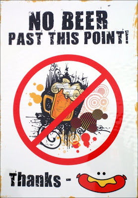 No Beer sign