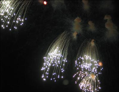 Rhythm & Boom waterfall fireworks