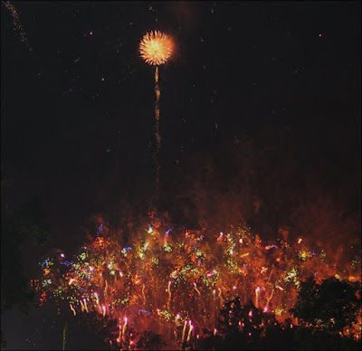 Warner Park ablaze