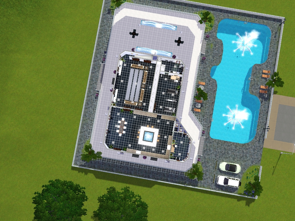 Los sims 3 mansion moderna for Casa moderna los sims 3