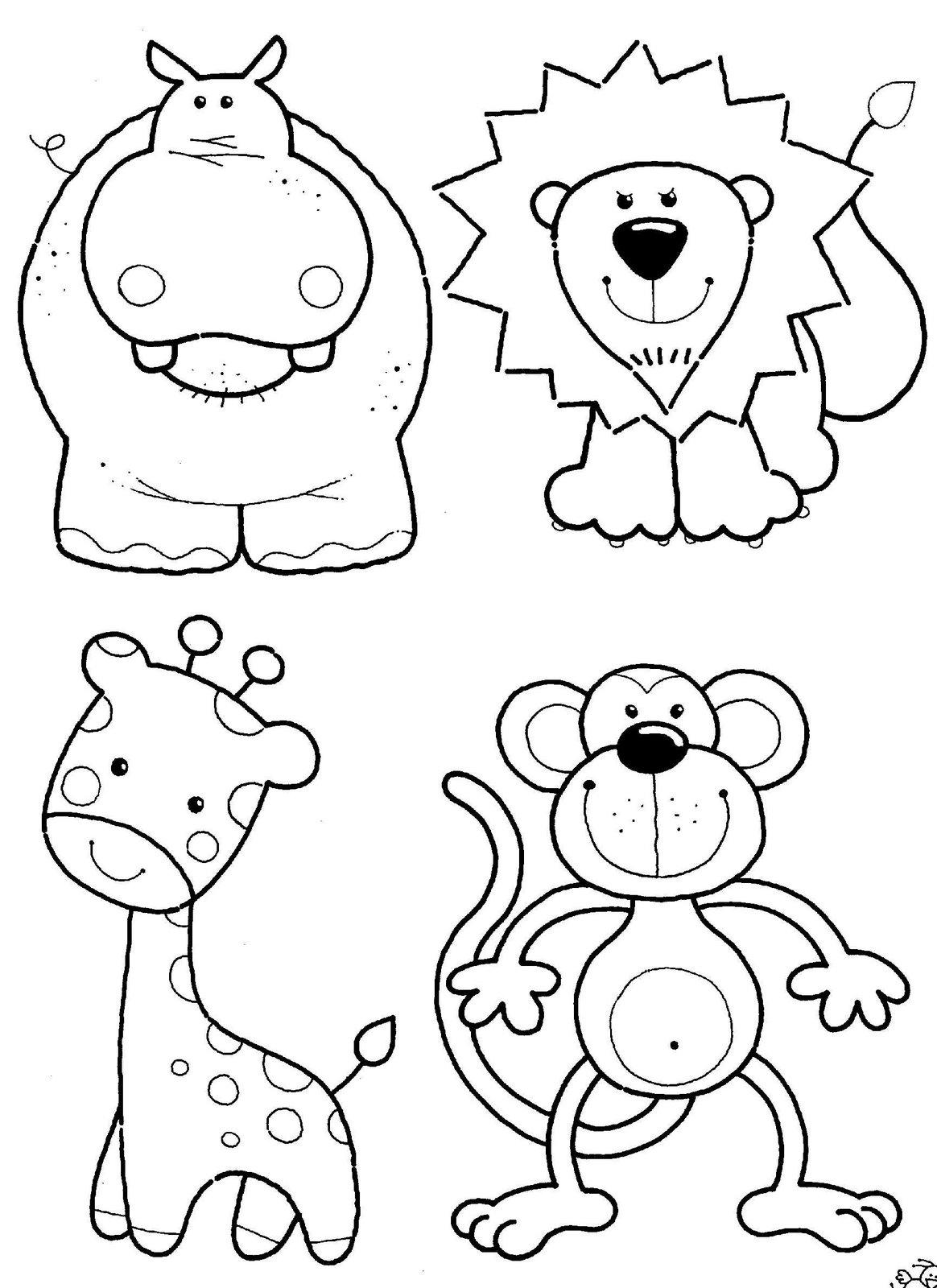 Ideas y Dibujos de Manualidades***: HIPOPOTAMO LEON Y MONOS