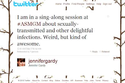 Sing-along tweet