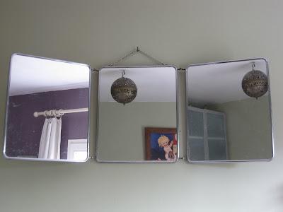 Le loup rose la vanille miroir ancien trois faces - Miroir trois faces salle de bain ...