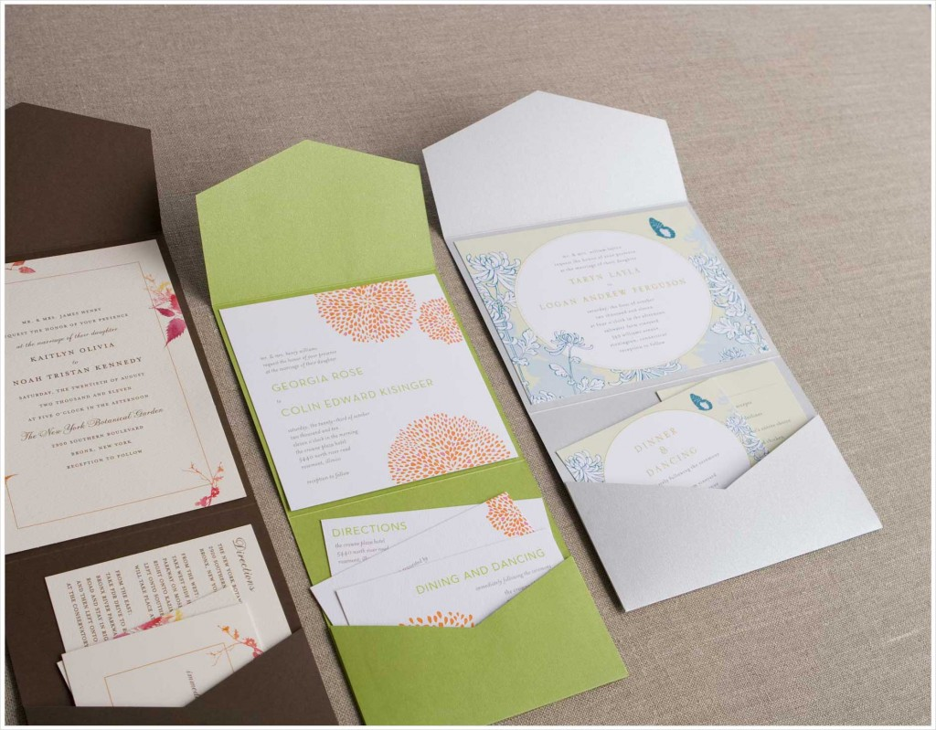 weddingzilla wedding invitations all in one pocket folds love it
