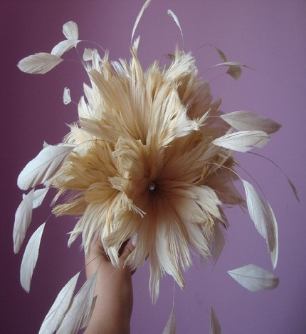 Floating Dream Feather Bridal Bouquet by eeekdesigns in Toronto is also on