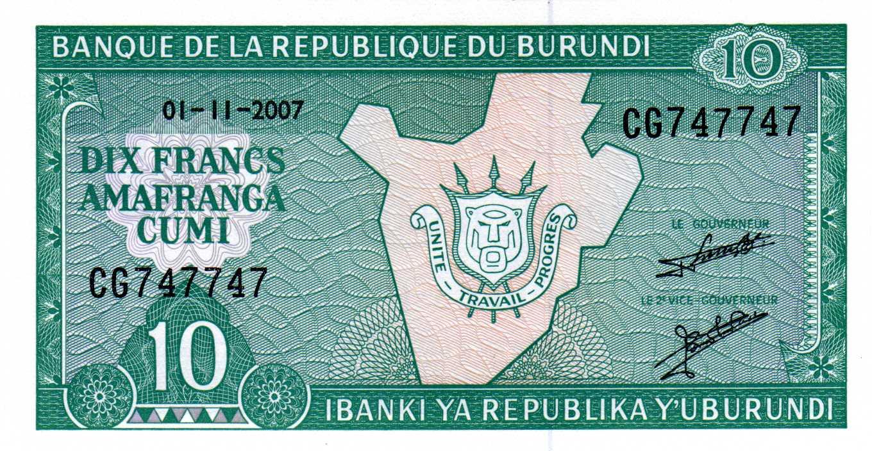 Colección de billetes capicúas