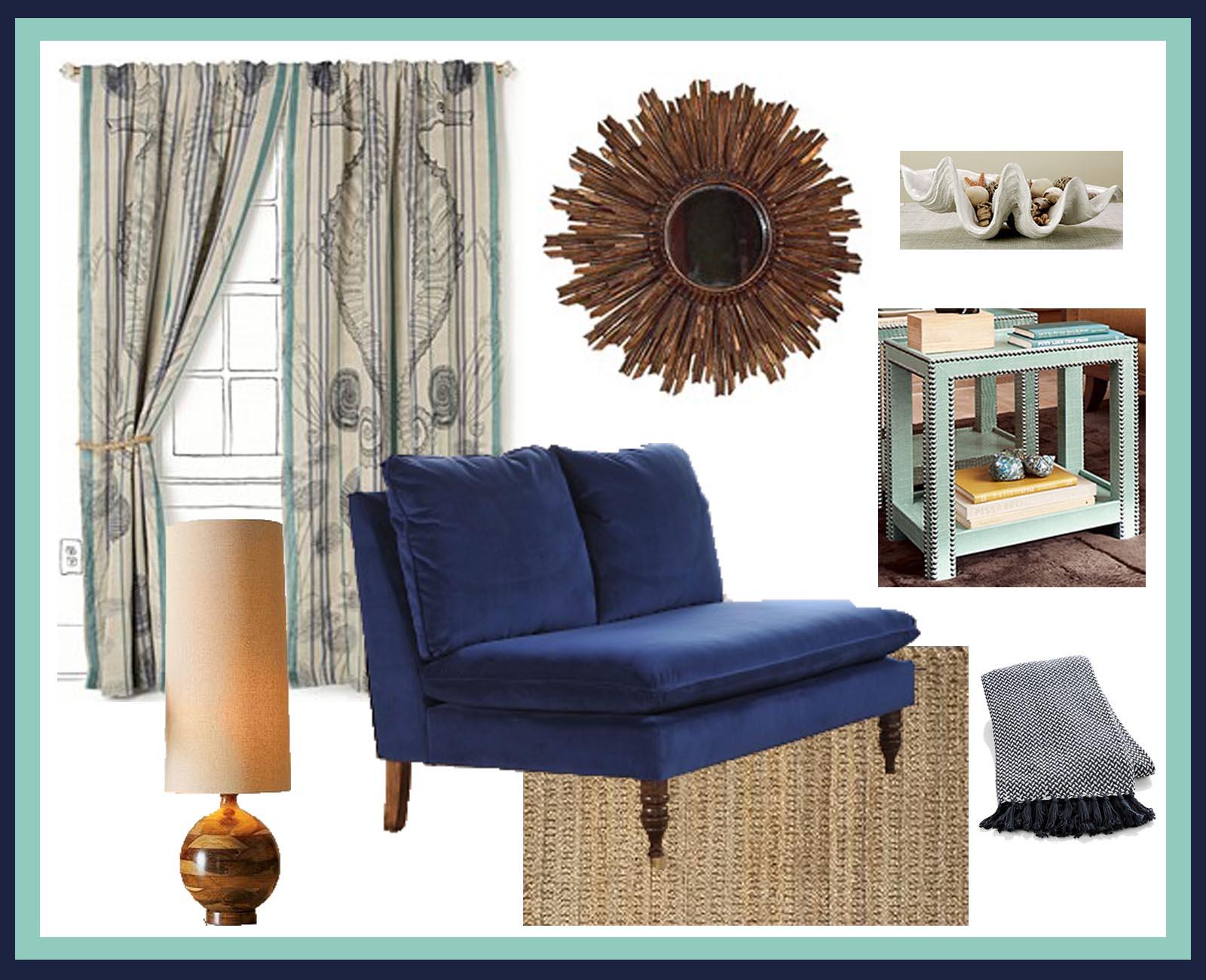 Navy Blue Color Scheme Living Room Estilo Home June 2010