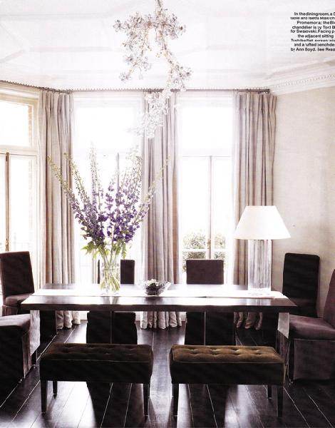 Pretty things design lavender accent dining room for Lilac living room walls