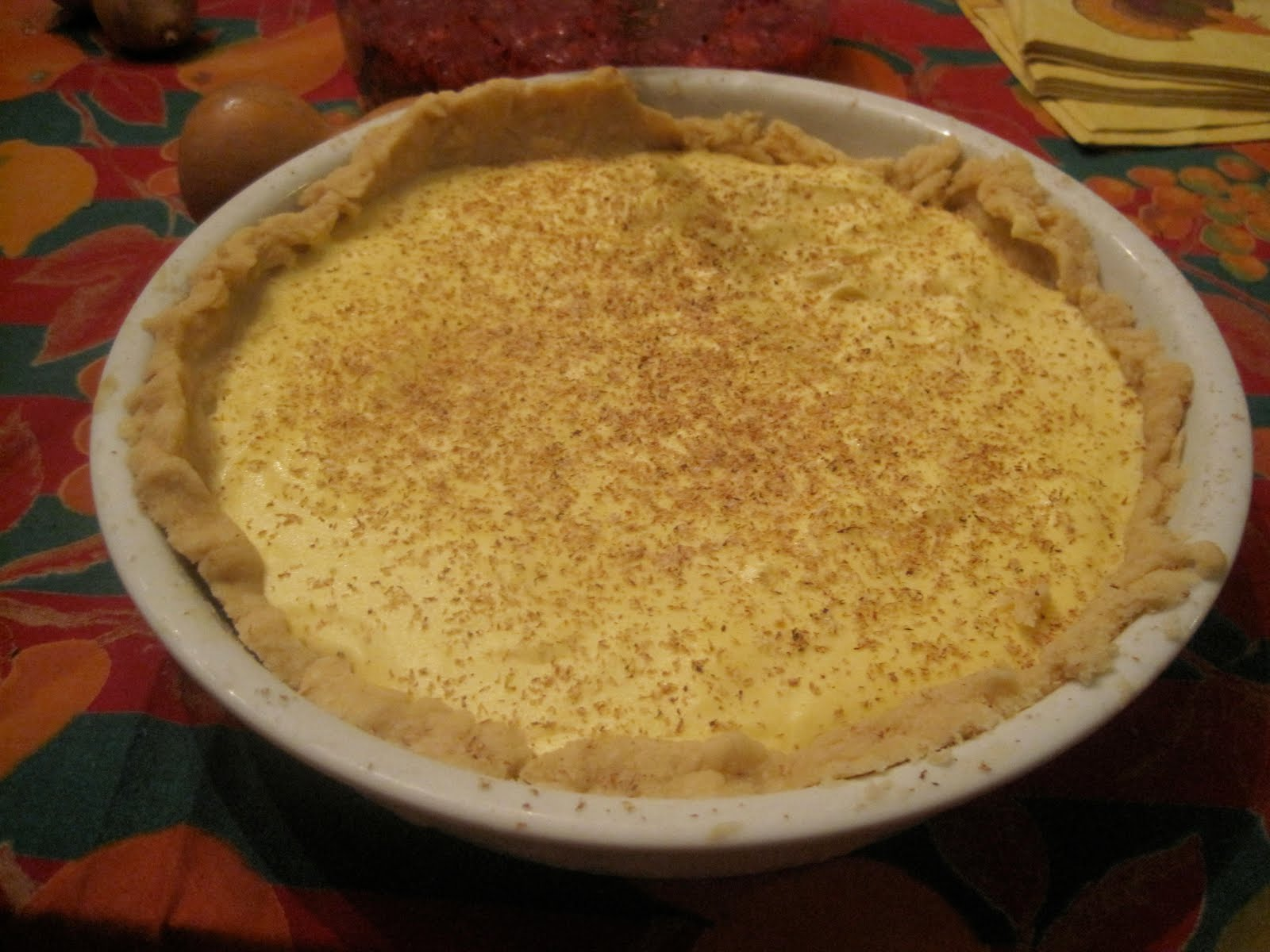 The Tipsy Baker: Eggnog pie