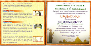 cooljoint Shreyas Upanayanam Invitation