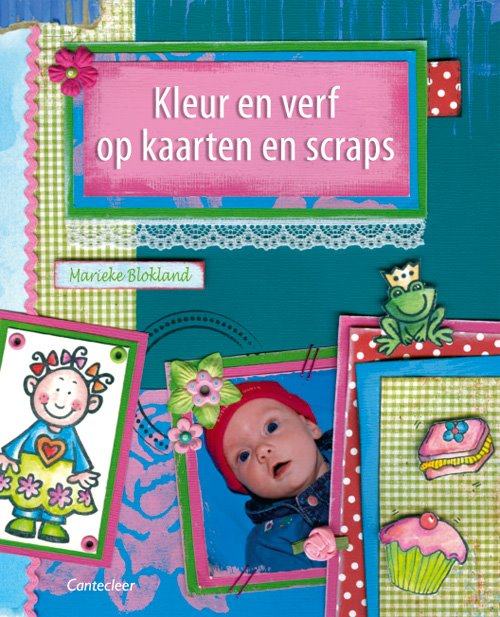Kleur en verf op kaarten en scraps