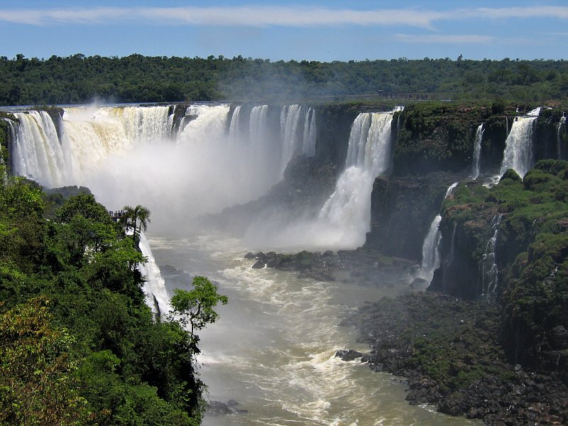 iguazu river waterfall