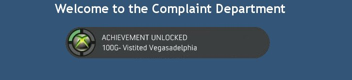 Welcome to the Complaint Department