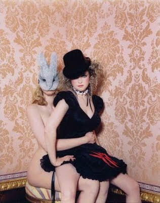 goldfrapp, bunny mask, rabbit head