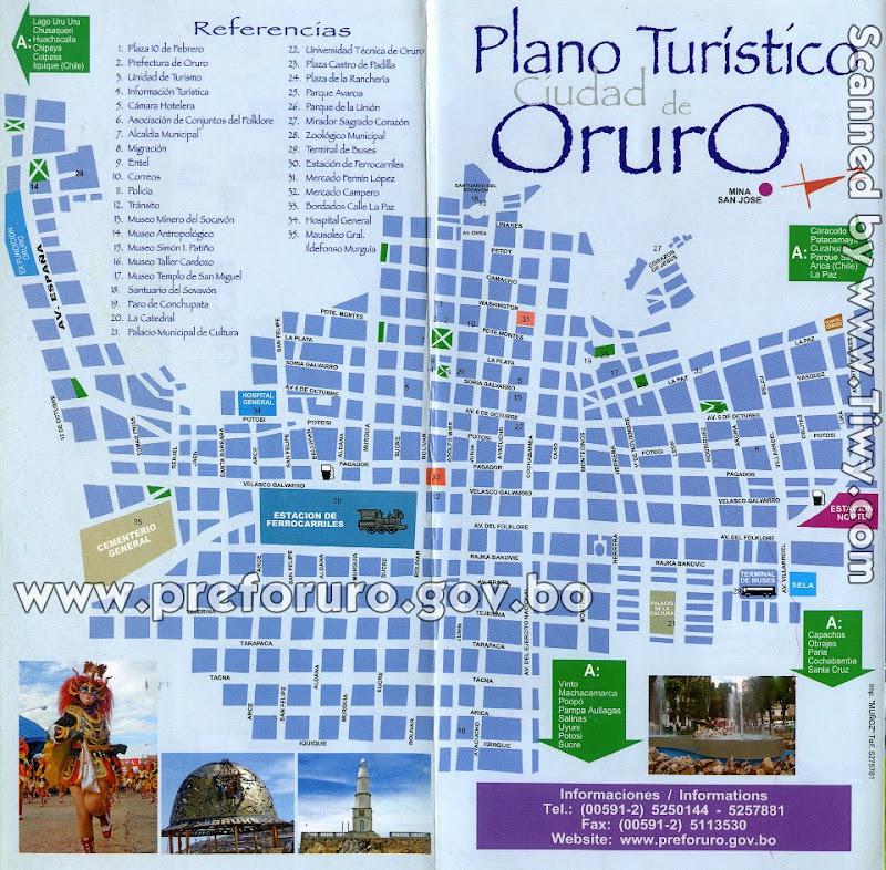 Plano-ciudad-de-Oruro-mapa-Oruro-Bolivia