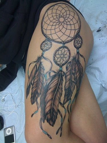 dreamcatcher tattoo. Tattooed by Johnny at;. The Tattoo Studio