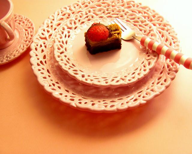 Strawberry Chocolate Layer Cream Cake