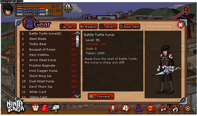 ninja saga mod apk unlimited token