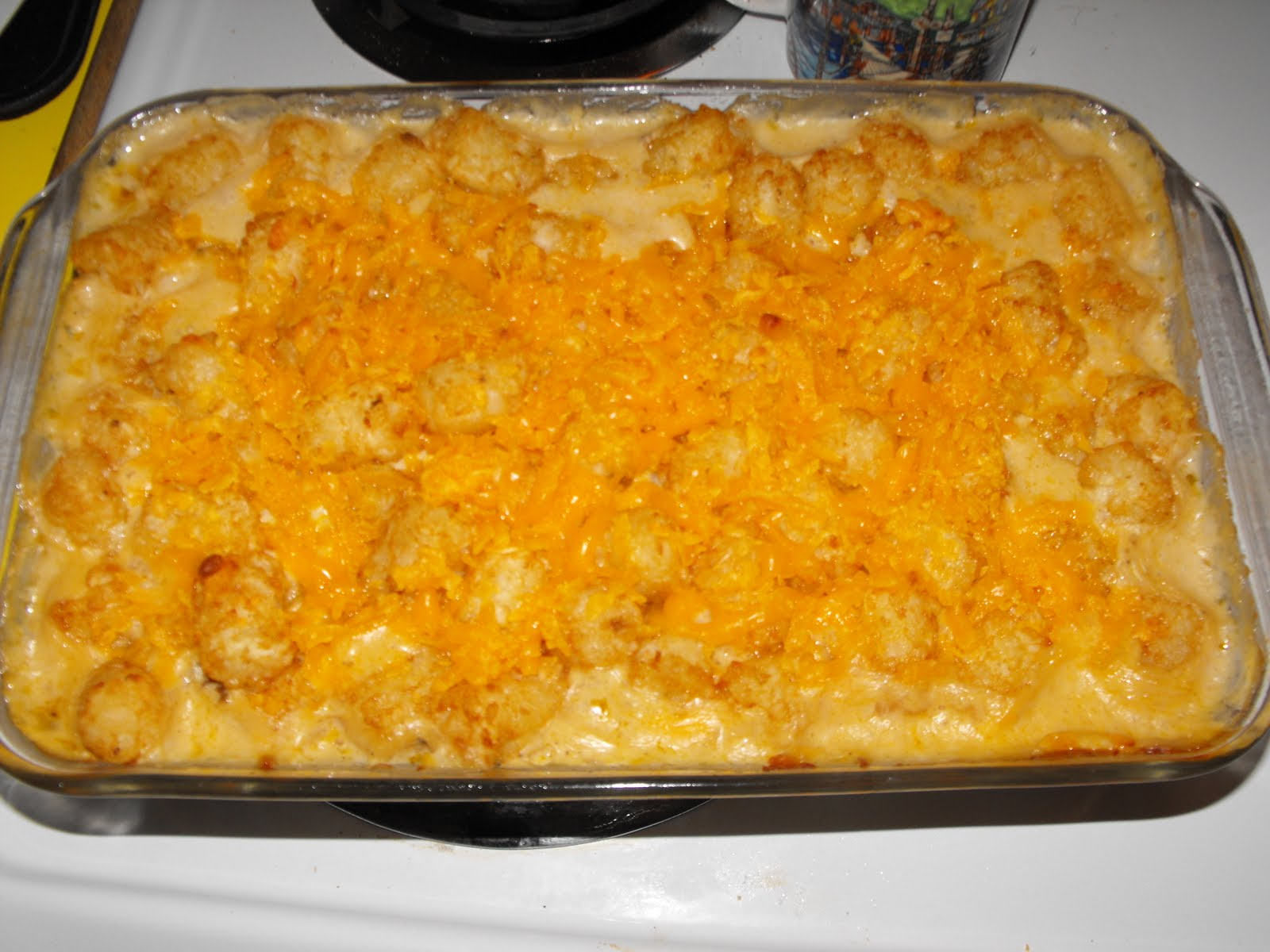 And Baby Makes Three!: Tater Tot Casserole and German Chocolate cake