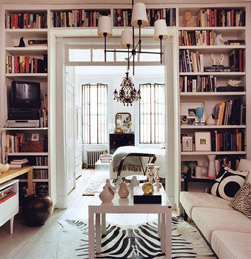 Bookshelves in Living Rooms