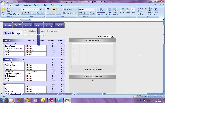 Budget Planner Spreadsheet
