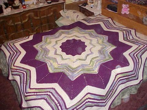 Welcome To Simply Jeans Round Ripple Bedspread Crochet