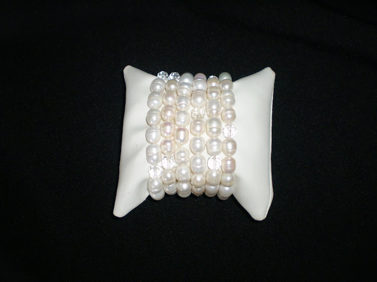 P03 Pulseras de Perlas y Cristales Checos