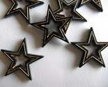 starry - cool gold etched vintage lucite stars -$3-