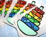 Set of 6 RingGlass Stickers -$2.50-