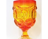Old Amberina Art Glass Goblet  -$11-