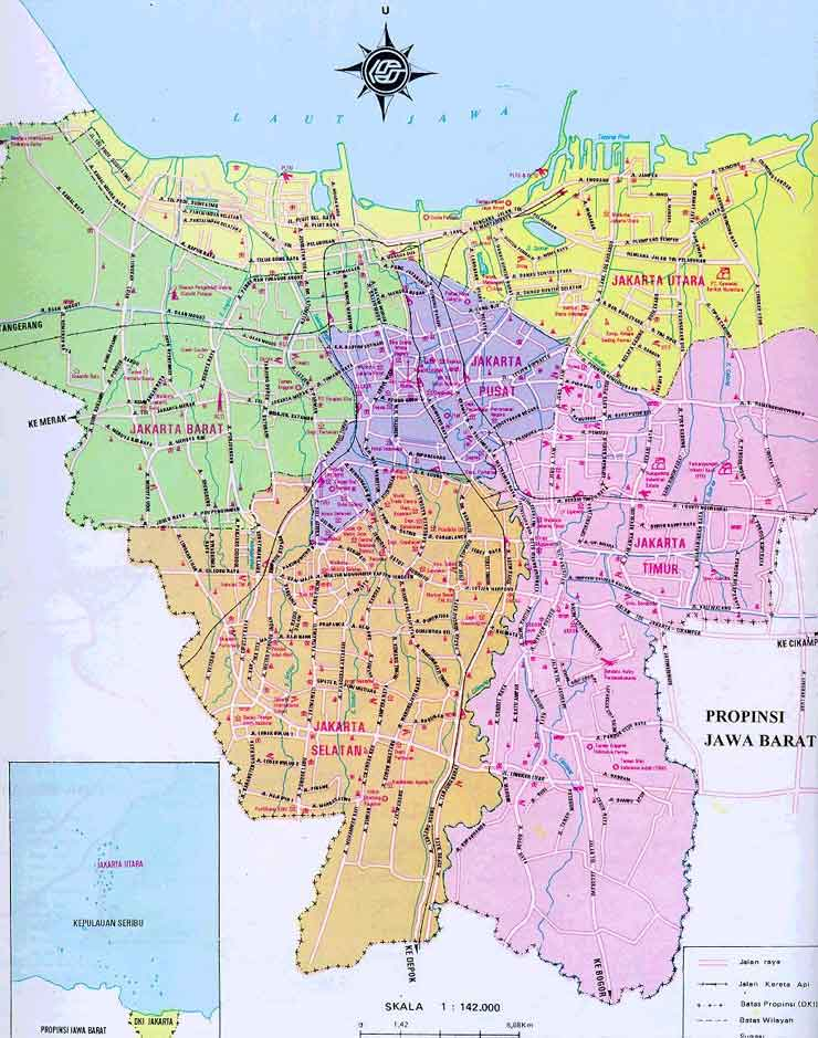 map of jakarta free printable maps