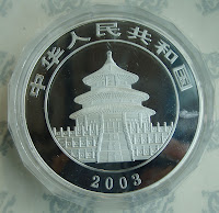 The reverse of a fake Silver Panda or replica on Ebay