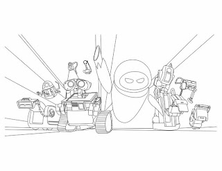 Wall-E Coloring Page Printables