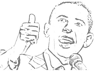 Barack Obama coloring pages to print out