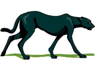 Free black panther walking clipart