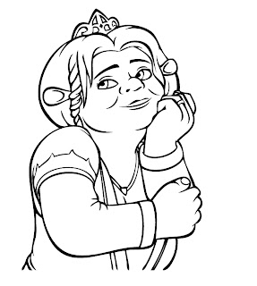 Dreamworks free Shrek coloring pages of Princess Fiona