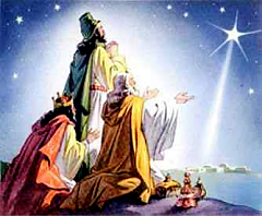 Nativity Clip Art picture of the north star