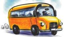 classy painted school bus clip art