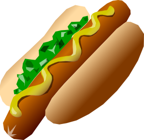 Relish Mustard hot dog clipart number 2