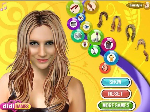 Игры для девочек kesha makeup макияж кеша