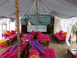 Amy Winehouse spending honeymoon at Camp Kerala