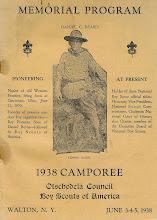 Memorial Program, 1938 Camporee, Walton, NY