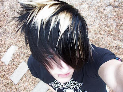 Emo Anime Boy with Black Hair