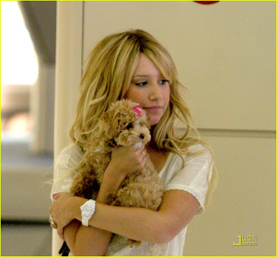ashley tisdale and her dog