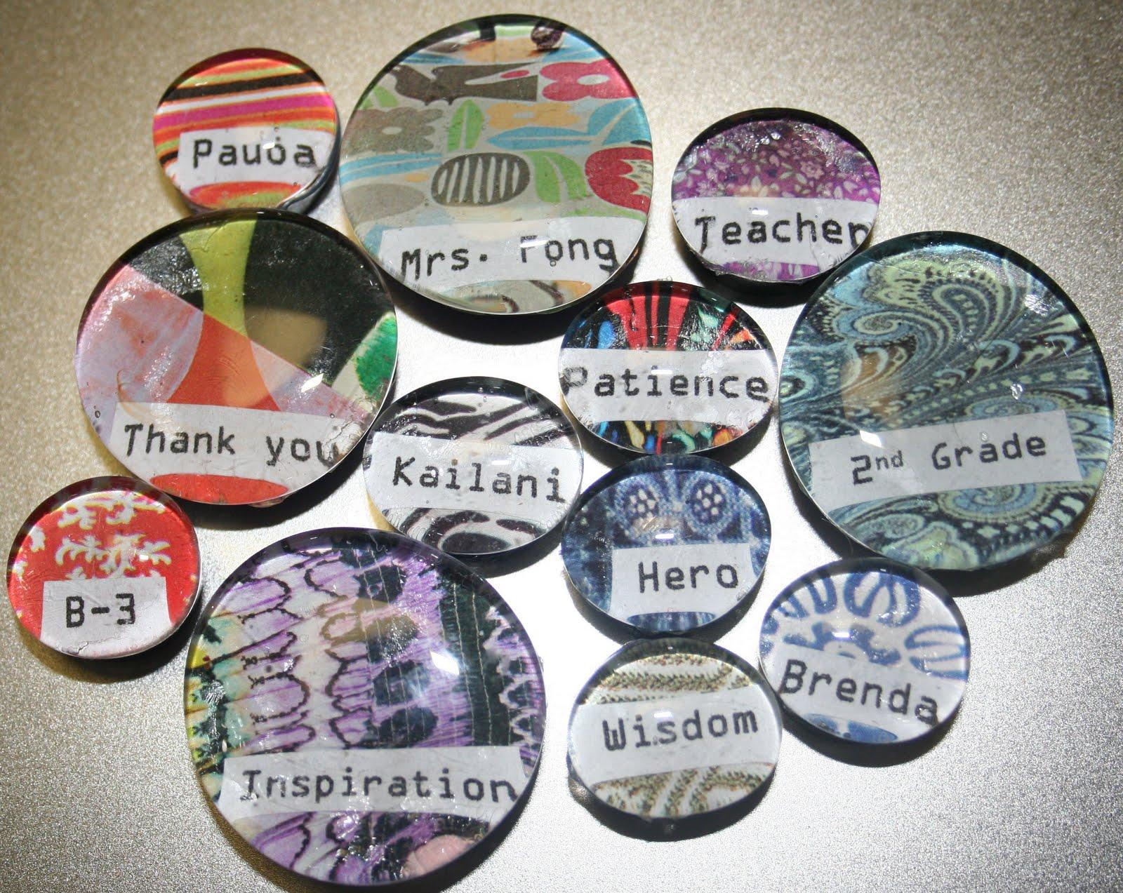 Mama's a Mess!: Marble Magnets - Teacher Appreciation Week