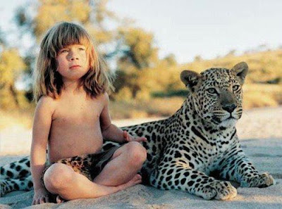 Tarzan was a small age, and with a tiger