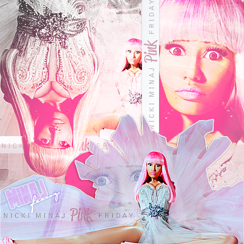 Nicki Minaj - Pink Friday CD Inside cover. PINK SUGAR